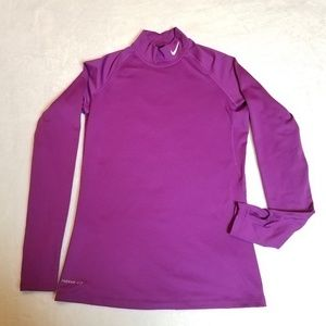 Nike Pro Combat Dri-fit long sleeve. Purple. Large